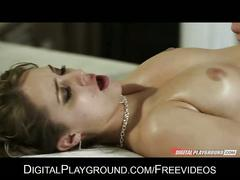 Stunning slut ella milano is eaten out & pounded by her masseur