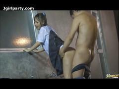 Japanese schoolgirl sex outdoors