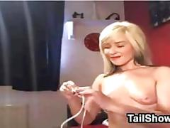 Pretty blonde cam girl amateur feature 1