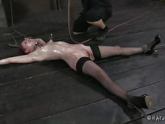 Hard tied and punished