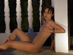 Ivana rubs her pussy like a mad girl