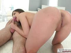 Henessy squirts cum from her ass after creampie