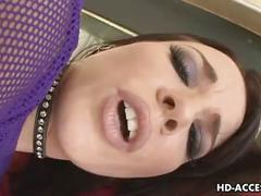 Stunning brunette babes anal gape