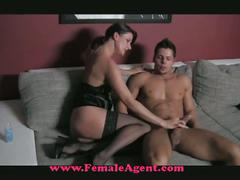Horny milf fucks on casting