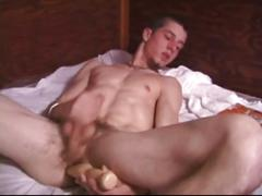 Adam jerking and toying his ass by defiant boyz
