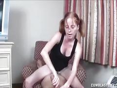 Teen slut cum extraction