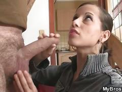 Cheating girlfriend fucked by her bf's brother
