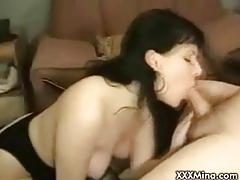 Milf mina and her hubby put on a show