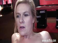 Horny amateur sluts fisting their pierced pussies