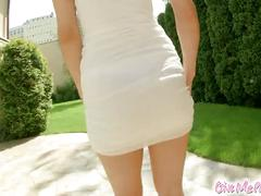 Anne gets caught in the garden masturbating to orgasm