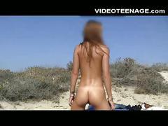 Real teen nudist at beach