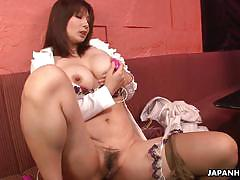 Elegant sayuri mikami masturbating in pantyhose