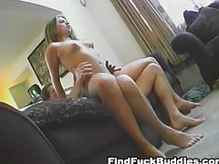 Real amateur home video of chick getting creampie