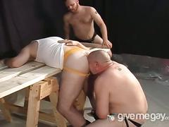 Three naughty gay bears enjoys sucking and rimming