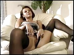 Milf having sex in sheer nylons and a garter belt