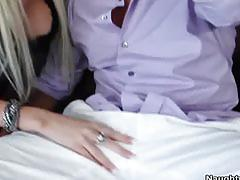 Rikki seduces her friend's brother and fucks his massive cock