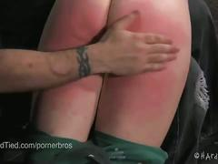 Young blond tracey sweet spanked hard