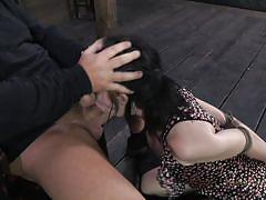 Knelt and mouth fucked
