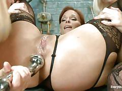 ass fingering, lesbian threesome, anal insertion, blondes, dildo fuck, tight asshole, metal dildo, everything butt, kink, krissy lynn, syren de mer, cherry torn