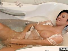 Curvy brunette emily argan masturbates for you