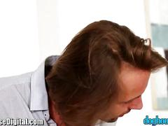 Doghouse cuckold revenge sex with tanned babe