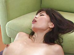 Japanese milf deepthroats a cock