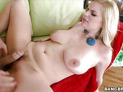 milf, blonde, creampie, big boobs, bouncing boobs, couch fuck, pink lips, cum in vagina, big tit cream pie, bangbros network, danielle delaunay