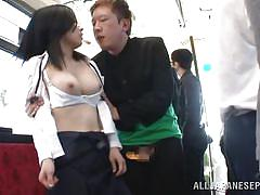 Japanese girl disgusted by cock on train