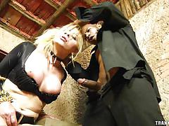 Mirela abelha takes big black cock