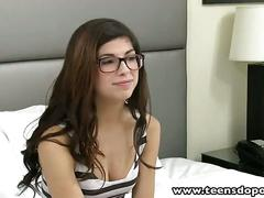 Teensdoporn nerdy 18 yearold teen facialized