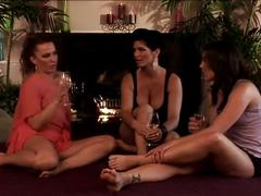 2 sexy cougars with a beautiful brunette.