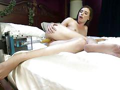 Baby plays with her machine