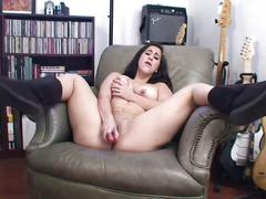 Valerie's pink pussy toyed