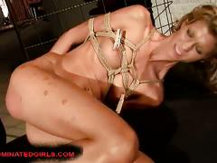 bdsm, blonde, hardcore, bondage, doggy style, dungeon, painful, platinum blonde, sadistic, slave, torture