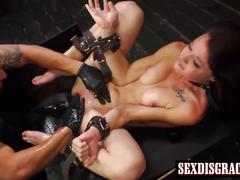 Kaisey deans pussy filled with huge cock