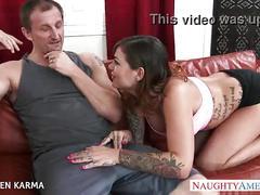 Sexy brunette karmen karma fucking
