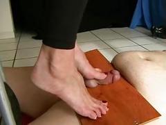 Hard bare feet torture
