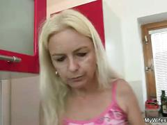 Son in law fucks her old mom!