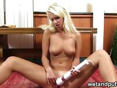 masturbation, blonde, solo, teen, toys, dildo, euro, european, tatoo