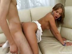 European teen prefers to get fucked in doggystyle