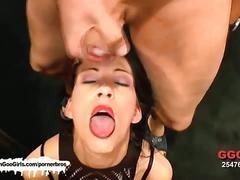 German brunette aymie bukkake gangbang