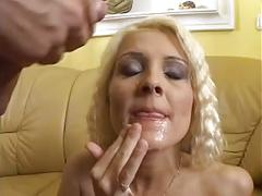 Hot and sexy blonde offer to a young man