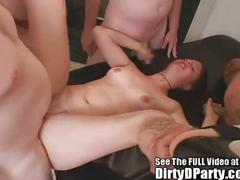 Teen gang bang slut!