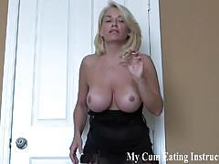I caught you jerking so now you have to eat your cum cei