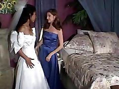 latin, girl-on-girl, lesbians, foot-licking, foot-rub, wedding, skinny, petite, small-tits, natural, brunette, pussy-licking, strap-on, strapon, toe-sucking
