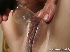 Beth masturbates in the ass with a blue vibrator