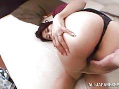 Japanese lady is caught masturbating