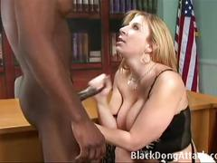 Big breasted blonde milf rides bbc