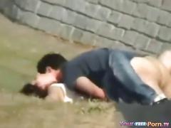 Voyeur tapes teens fucking in the park