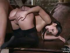 Brunette parisi rides cock and fuck from behind